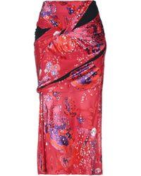 Atlein 3/4 Length Skirt - Red