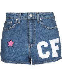 Chiara Ferragni Shorts vaqueros - Azul