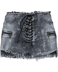 Unravel Project - Denim Shorts - Lyst