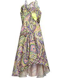 Delpozo Kurzes Kleid - Gelb