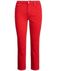 Lauren by Ralph Lauren Cropped Jeans - Rot