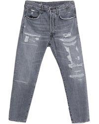 People Denim Pants - Gray