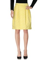 Anneclaire Knee Length Skirt - Yellow