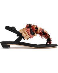 Sanayi 313 Toe Post Sandals - Black