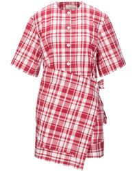 Maison Kitsuné Kurzes Kleid - Rot