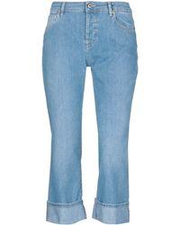 TRUE NYC Pantalones capri vaqueros - Azul