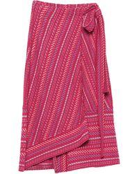 VIKI-AND Midi Skirt - Multicolour