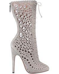 Alaïa Ankle Boots - Grey