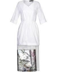 Ter Et Bantine 3/4 Length Dress - White