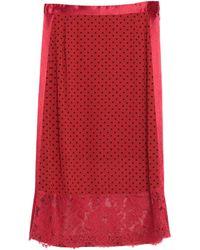 Undercover Midi Skirt - Red