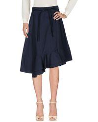 Celine Midi Skirt - Blue