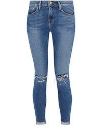 FRAME Pantalon en jean - Bleu