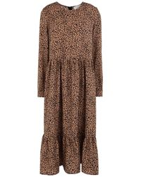 Never Fully Dressed 3/4 Length Dress - Brown