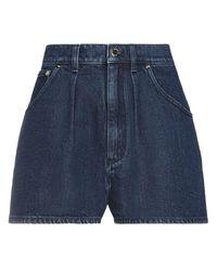 Alberta Ferretti Shorts vaqueros - Azul