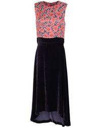 Manila Grace Knee-length Dress - Purple