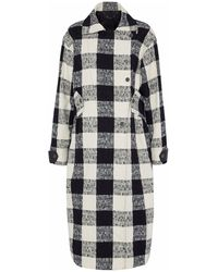 Belstaff Double-breasted Checked Cotton-blend Bouclé-tweed Coat - White