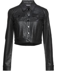Emporio Armani Manteau en jean - Noir