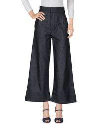 Victoria, Victoria Beckham Pantalon en jean - Bleu
