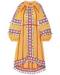 Dodo Bar Or Embroidered Cotton Midi Dress - Multicolour