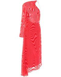 Marine Serre Midi Dress - Red