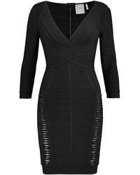 Hervé Léger Short Dress - Black