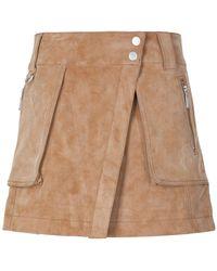 Free People Mini Skirt - Natural