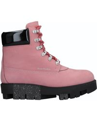 71741bfcb06 Acne Studios Telde Hiking Boot in Pink - Lyst