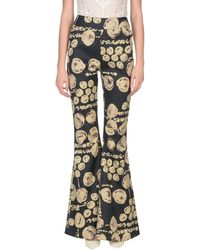 Beaufille Cyrus Printed Flared Trousers - Black