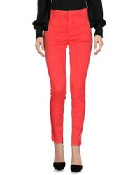..,merci Casual Pants - Red