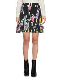 Boutique Moschino Mini-jupe - Noir