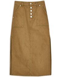 TOPSHOP Denim Skirt - Multicolour