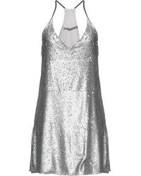 Angela Davis Short Dress - Metallic