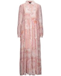 Clips Long Dress - Pink
