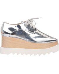 Stella McCartney Zapatos de cordones - Metálico