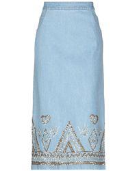 Manish Arora Denim Skirt - Blue