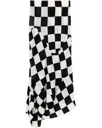 Jil Sander 3/4 Length Skirt - White