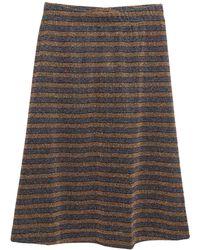 Libertine-Libertine Knee Length Skirt - Metallic