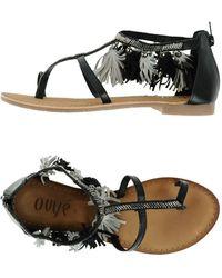 Ovye' By Cristina Lucchi Toe Strap Sandal - Black