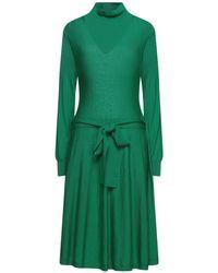 Le Mont St Michel Midi Dress - Green