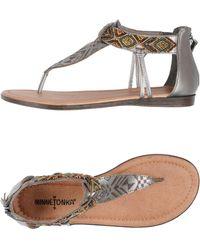 Minnetonka - Toe Strap Sandals - Lyst