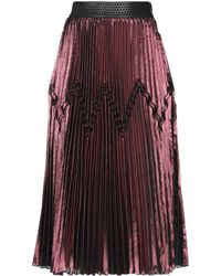 Space Style Concept 3/4 Length Skirt - Red
