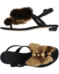 Sanayi 313 Toe Strap Sandals - Black