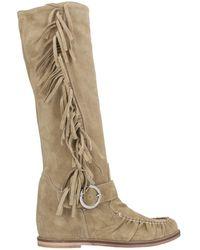 Divine Follie Knee Boots - Natural