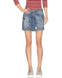 Frankie Morello - Denim Skirt - Lyst