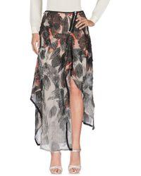 Alessandra Marchi Long Skirts - Gray