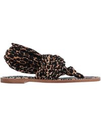 Casadei Toe Post Sandal - Black