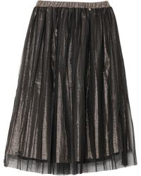 MY TWIN Twinset Midi Skirt - Black