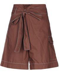 P.A.R.O.S.H. Bermuda Shorts - Brown