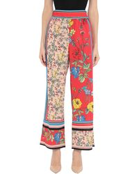 Alice + Olivia Casual Trousers - Red