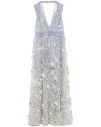 W Les Femmes By Babylon Long Dress - Blue